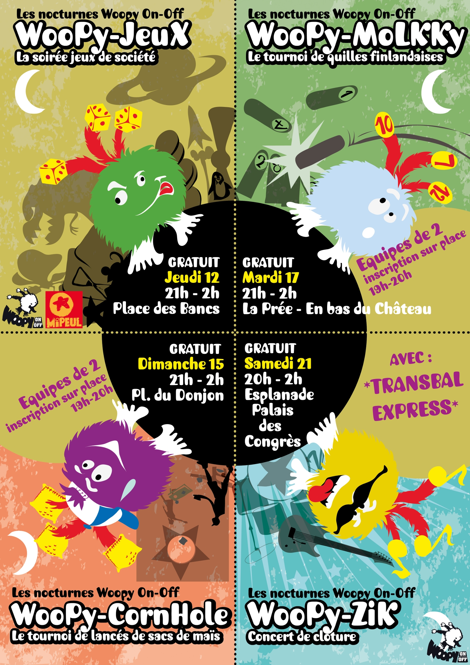 Affiche animations Woopy On Off 2018