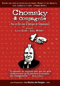 "Affiche du reportage ""Chomsky & Compagnie"""